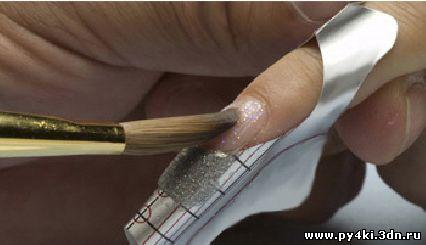 +как нарисовать +на ногтях цветок