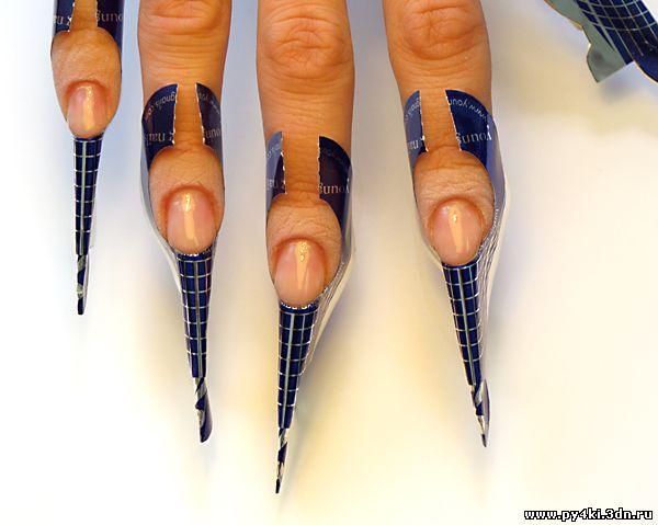 Форма стилет ногти видео