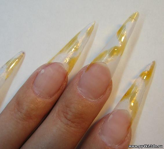 форма ногтей стилет