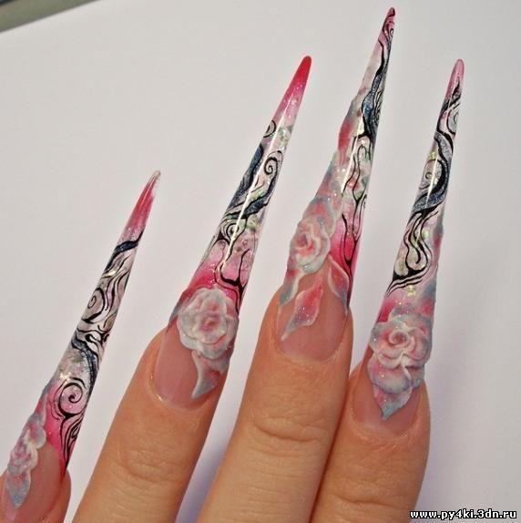Рисунки для ногтей пики