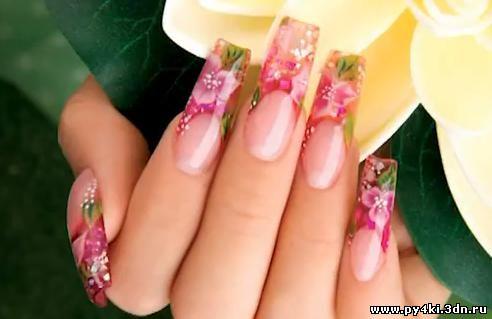 объемный дизайн ногтей видео: