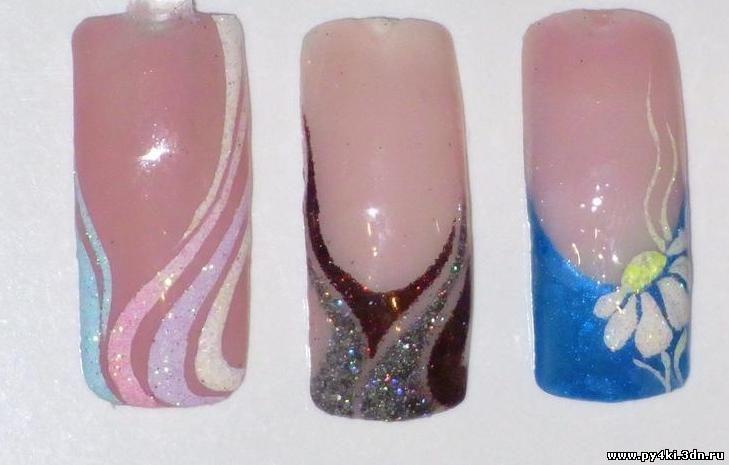 Дизайн ногтей гель-лак с блестками