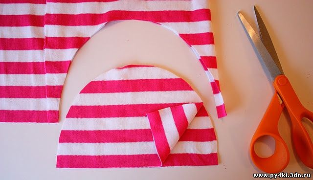 Шапочки из ткани своими руками