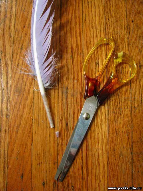 Как сделать кисточку из перьев