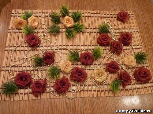 Делаем розы своими руками