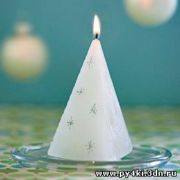 Как сделать декоративную свечку своими руками.