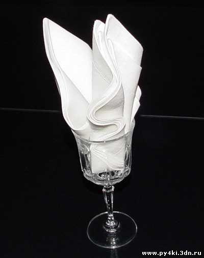 Мастер класс украшения стола: Лилия в кубке из салфетки