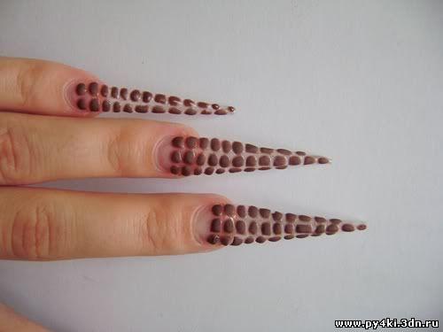 дизайн ногтей лепка
