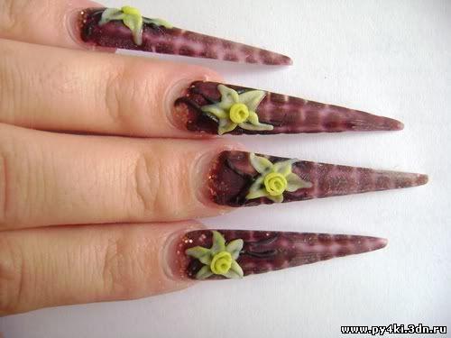 лепка +на ногтях акрилом
