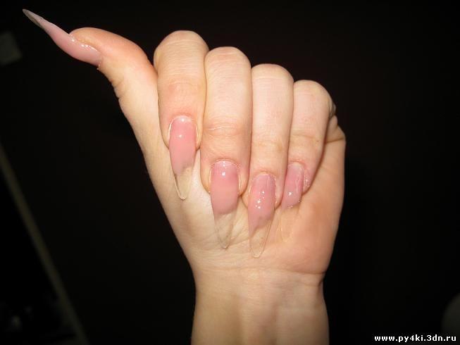 гелем формируем ногти