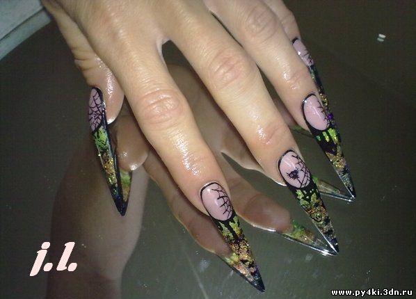 паутина +на ногтях