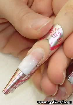 ногти нарощенные акрилом