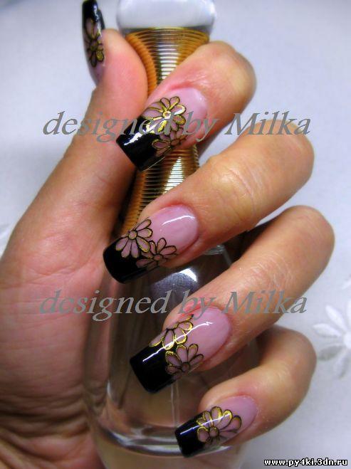 ромашки +на ногтях