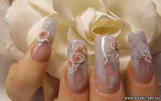 Нежность свадебный дизайн ногтей