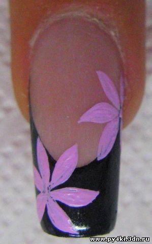 Рисунки на ногтях для начинающих пошаговое акриловыми красками