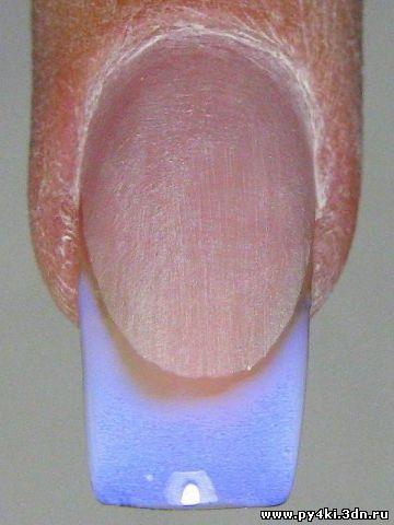 Наращивание ногтей френч гелем пошагово