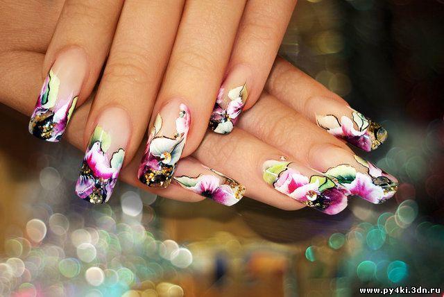 Роспись ногтей дизайн фото ногтей