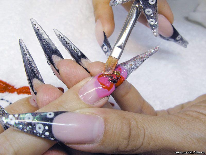 Дизайн ногтей из цветного геля