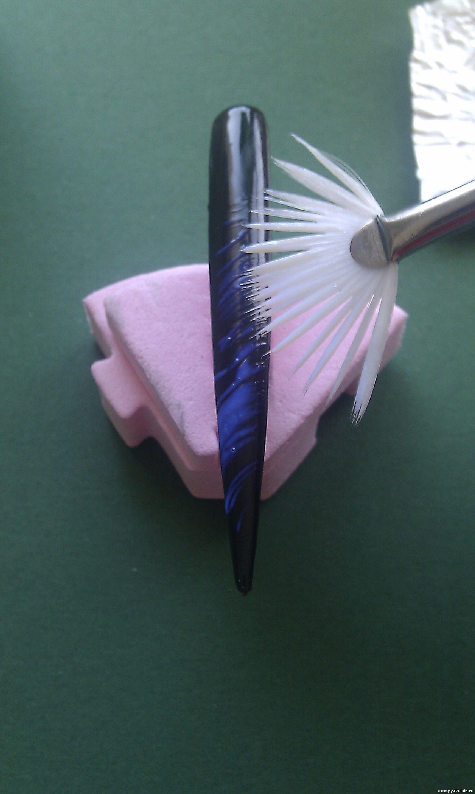 Кисточка веер для маникюра как пользоваться