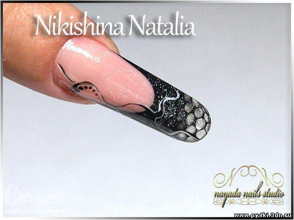 дизайн ногтей с сеткой: