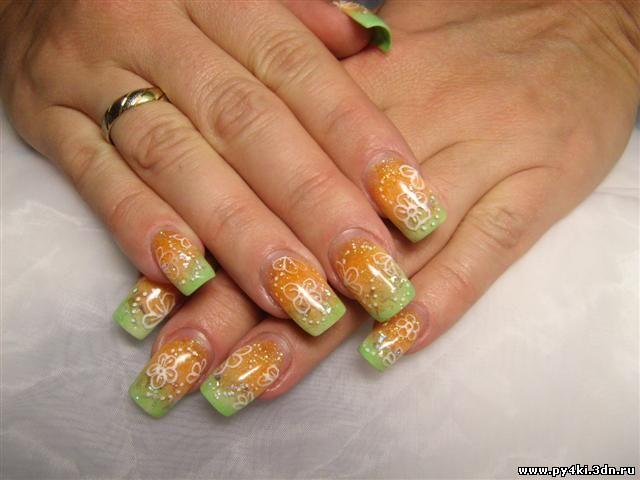 дизайн ногтей сыр: