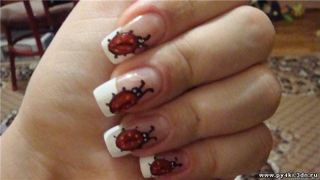 Фото бабки коробки на ногтях