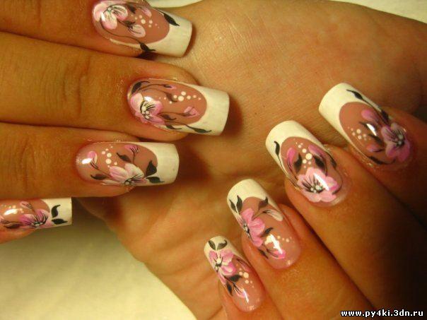 Дизайн по наращиванию ногтей фото