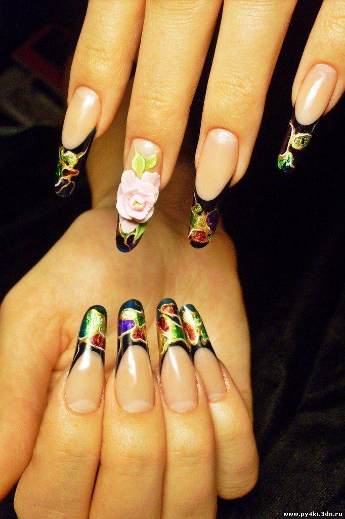 Сливовый дизайн ногтей