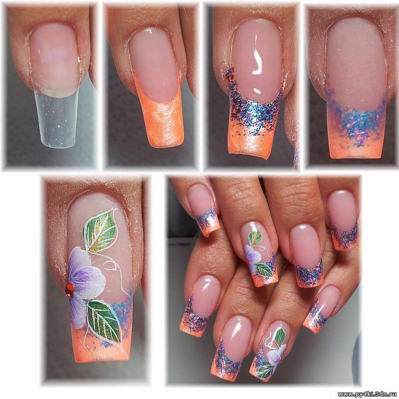 мк дизайн ногтей гелем пошаговая инструкция - фото 3