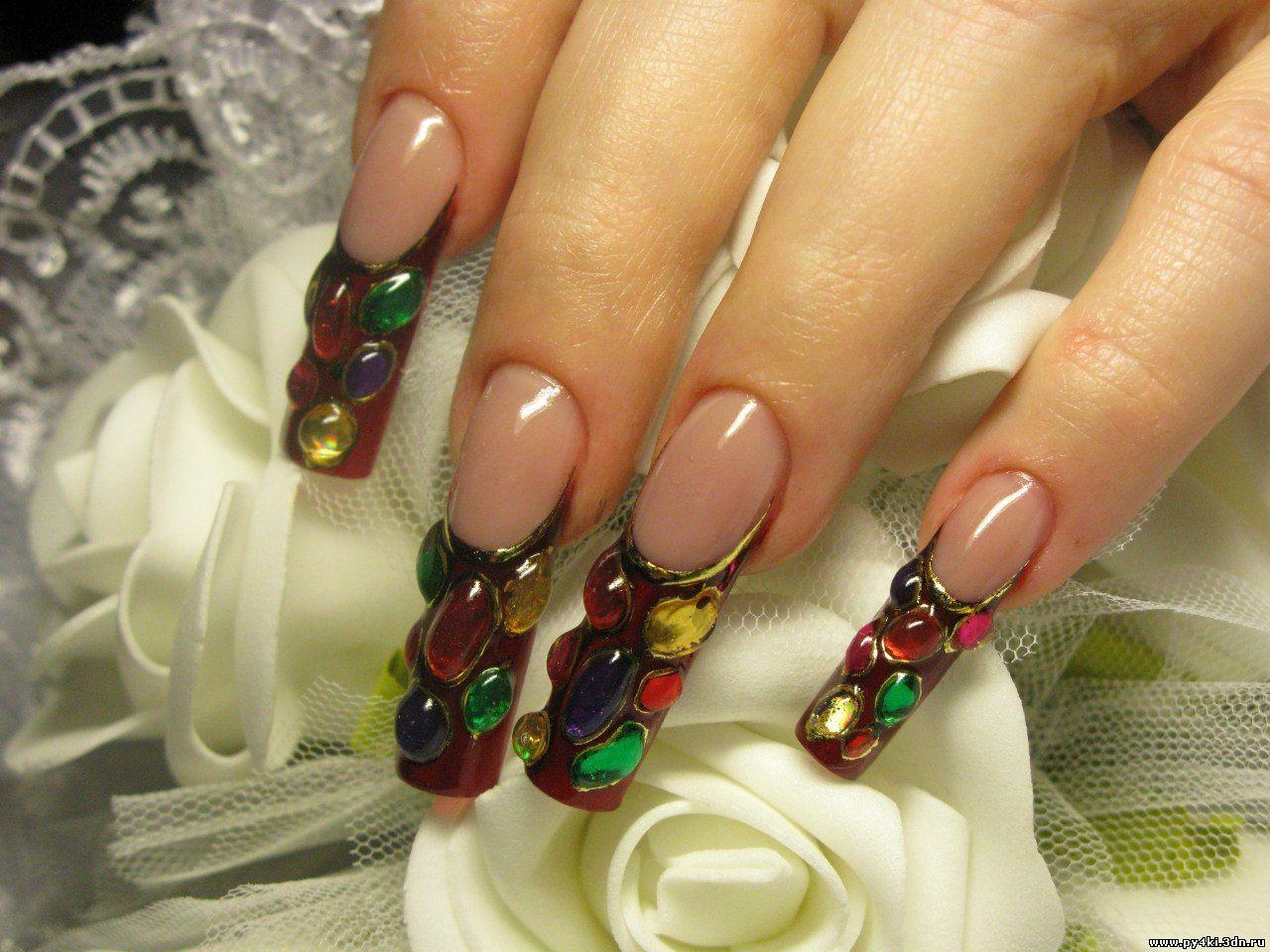 Дизайн литье камней на ногтях фото