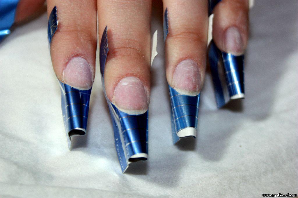 Ошибки при наращивании ногтей гелем на формах