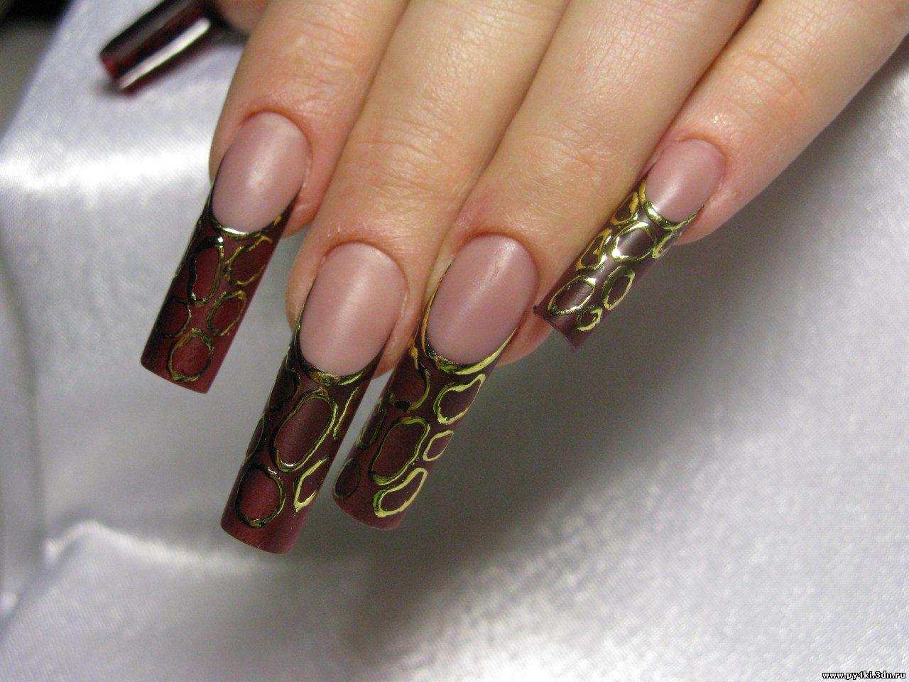 Фото дизайна ногти литье