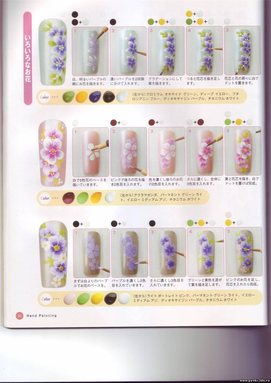 """Рисунки на ногтях.  """" #31 28 Августа 2008.  Форум полимерной глины.  Мастераполимернойглины.рф."""