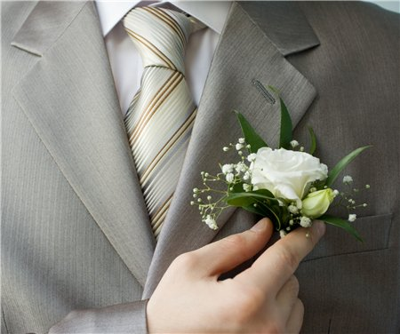 Бутоньерка жениха.