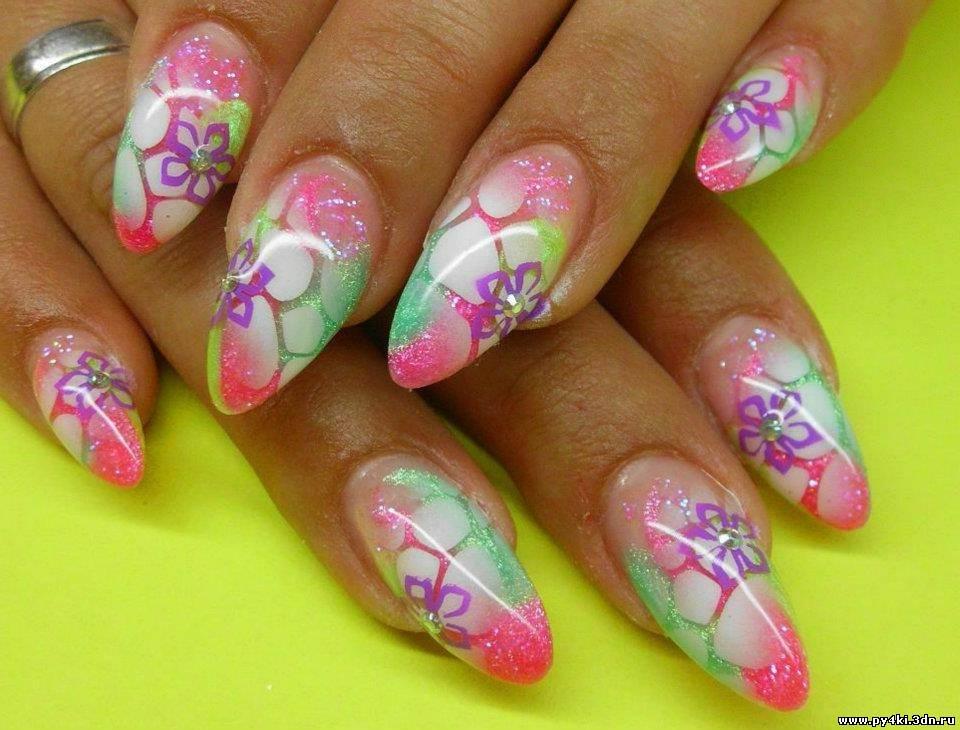 Дизайн ногтей летнее 45