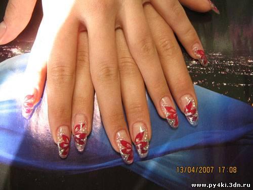 Дизайн нарощенных ногтей овальных фото
