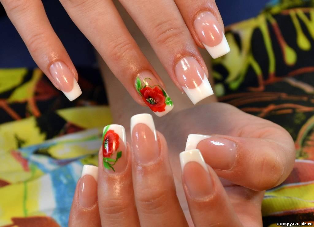 Дизайн ногтей маки френч