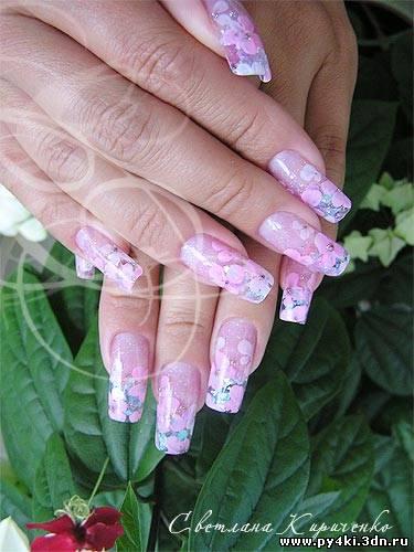 Фиолетовые ногти дизайн акриловые